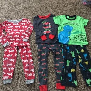 Carter's Pajamas - 3 Toddler boy pajamas